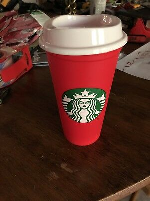 Starbucks Holiday 2018 Red Reusable Cup 16 Oz Discount Coffee