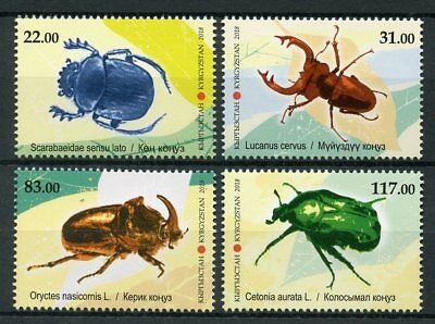 Kyrgyzstan 2018 MNH Fauna Bugs Beetles 4v Set Insects Stamps