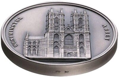 2018 100g Silver Benin 1500 Francs WESTMINSTER ABBEY Mauquoy Coin.