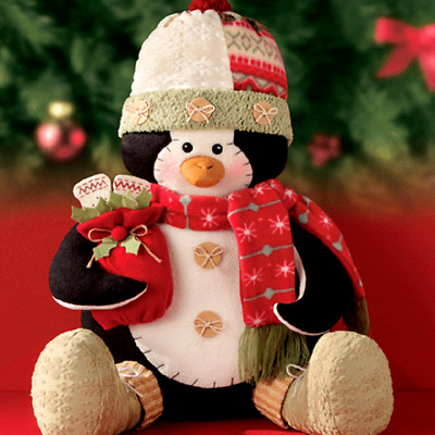 Avon Christmas Penguin Greeter  18 Ins H  Seated
