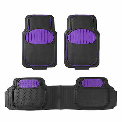 Purple Black Heavy Duty Touchtdown Floor Mats from FH Group for Auto Car