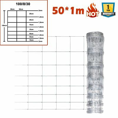 50X1M Garden Galvanized Forest Wild Fence Roll Fencing Geese Rabbit Deer Quality