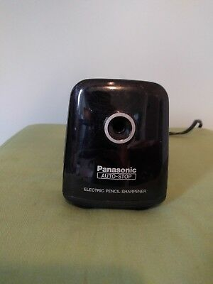 Panasonic KP-380 Electric Pencil Sharpener Auto Stop Black - Tested Works