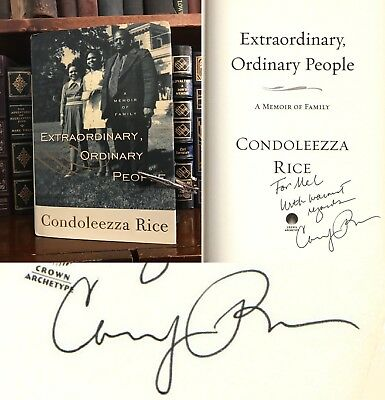 Extraordinary, Ordinary People SIGNED by Condoleezza Rice! Secretary of State