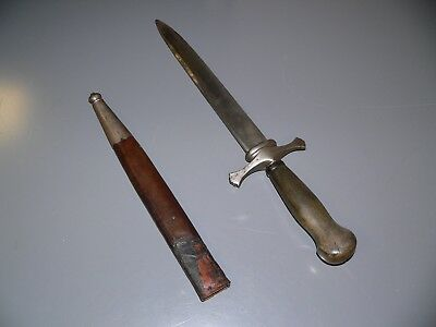 ANTIQUE GERMAN HUNTING DAGGER WITH ORIGINAL SHEATH - LATE 1700s to early 1800's