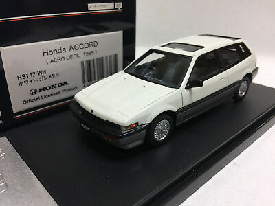 1:43 HI STORY HS142WH 1985 HONDA ACCORD AERODECK WHITE model car