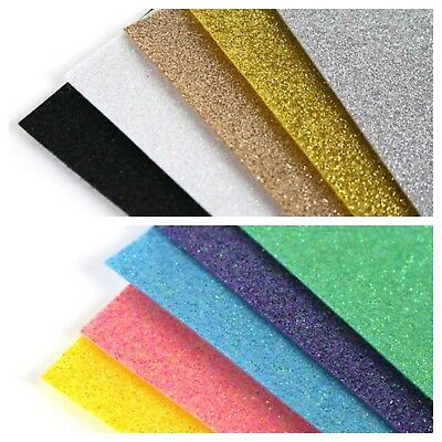 A4 Glitter Felt Sheets MULTIPACK Brights or Metallics Cardmaking Bows Crafts