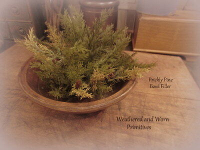 Primitive Country Prickly Pine Christmas Bowl Filler Greenery 9""