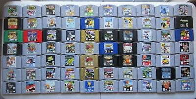 *GREAT* (Q-Z) Nintendo 64 N64 Games 100% Authentic Cleaned Tested SUPER FUN!!!