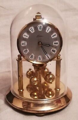 Vintage Kein Anniversary Clock with Dome - No Key - Spares/Repairs