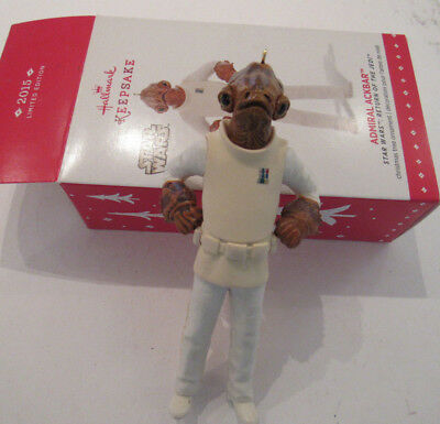 Star Wars Return of the Jedi Admiral Ackbar Hallmark Ornament New in Box