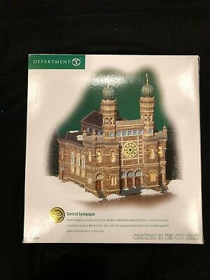 Department 56 Christmas in The City Series Central Synagogue 56.59204 With Box