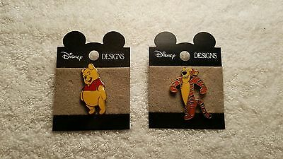 Disney Designs Tigger and Winnie The Pooh Pin Buttons