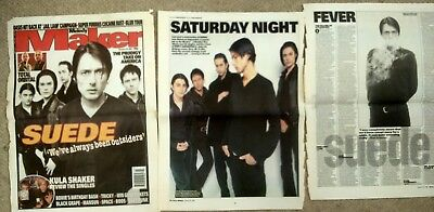 SUEDE MELODY MAKER Jan 18th 1997 3 pages + cover