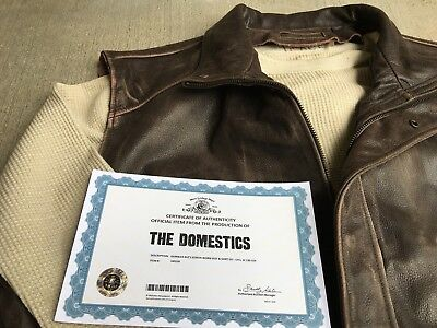 Screen Used & Worn Domestics COA Film Prop Wardrobe Leather Jacket Vest XLarge