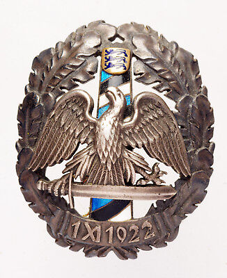 RARE Estonia Border Guard Badge _Silver and Enamels_Original