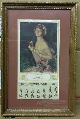 1927 Coca-Cola Calendar-Small Distributor Version
