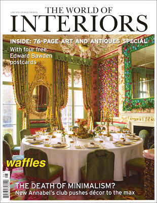 WORLD OF INTERIORS * JUNE 2018 Art & Antiques Special * BRAND NEW