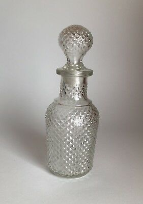 Vintage Avon Products Apothecary Decanter Diamond Cut Bottle with Stopper