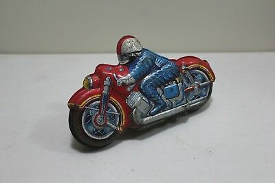 Vintage 1950 /60s Motorcycle bike racer  Tin Toy , Made in Japan