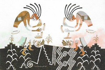 50 Native American Kokopelli Postcards by Robert Montoya