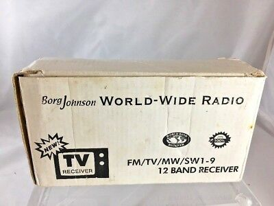 Borg Johnson HS-912R World-Wide Radio, FM TV MW SW1-9 12 Band Receiver *fG14