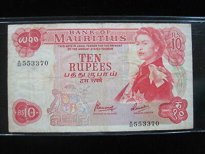Mauritius 25 Rupees 1967 P31 74# Bank Currency Money Banknote