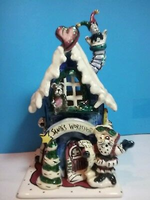Blue Sky Clayworks Santa's Workshop By Heather Goldminc  NIB