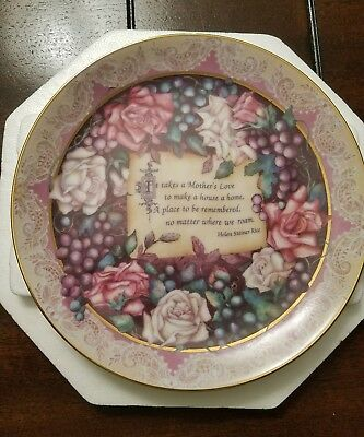 """Plate Bradford Exchange A Mother's Love """"REMEMBRANCE"""""""