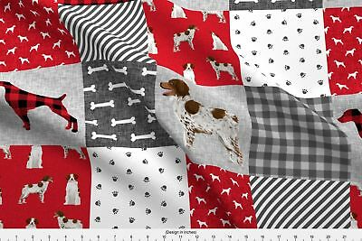 Brittany Spaniel Dog Dogs Dog Breed Cheater Fabric Printed by Spoonflower BTY