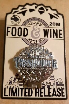 WDW Pin - Epcot Food and Wine Festival 2018 - Passholder - Limited Release