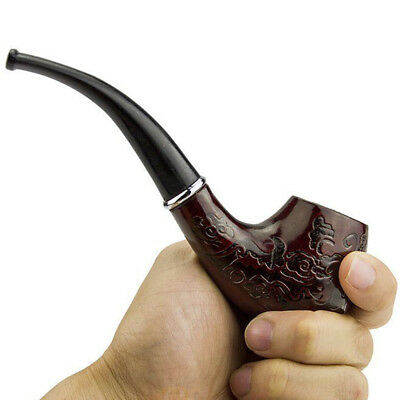 Wooden Wood Enchase Smoking Pipe Tobacco Cigarettes Cigar Durable HOT SALE