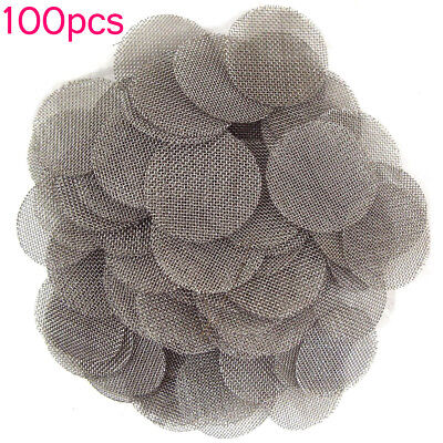 """100 piece 5/8"""" 16mm Round .625"""" STAINLESS STEEL Pipe Screens USA"""