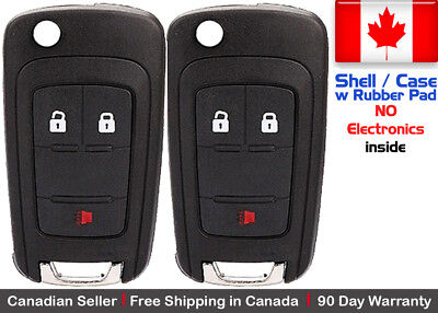 2x New Replacement Remote Key Fob Case For Chevy GMC - Shell Case Only