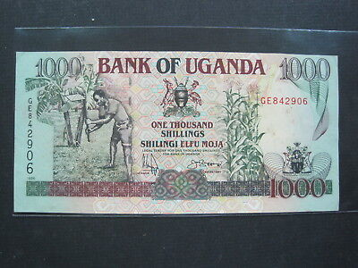 Uganda 1000 Shillings 2005 P43 44# Bank Currency Money Banknote