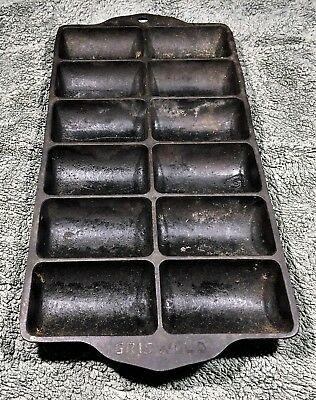 Antique Griswold No.11 Cast Iron 950A Gem French Roll Pan Erie,PA Made In USA