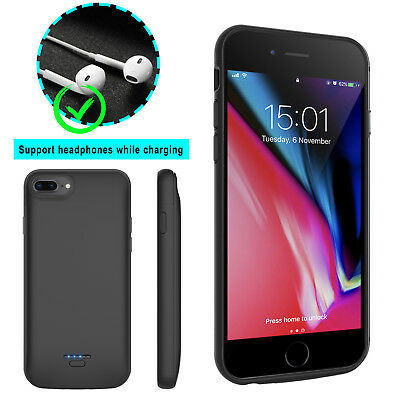 For iPhone 6 6s 7 8 Plus Battery Charger Wireless Power Bank Charging Case Cover