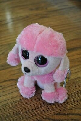 "NWT TY Beanie Boo PRINCESS the 6"" Dog poodle with Solid Eyes 2013 Release MINT"