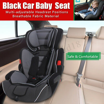 Black Convertible Baby Children Kid Car Safety Safe Seat & Booster For 9-36kg US