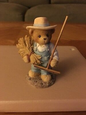 Cherished Teddies Chester Harvest Everything... Figurine # 847275 2001 By Enesco