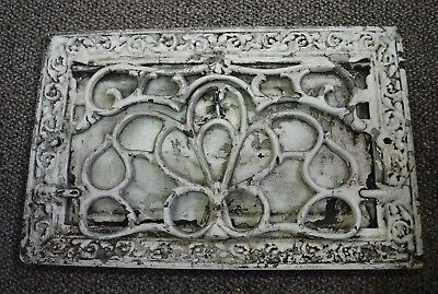 Antique Large Cast Iron Ornate Wall Heating Grate Register Vent