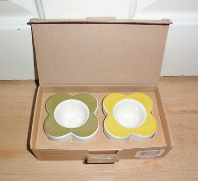 BNIB Orla Kiely tableware ABACUS FLOWER egg cups - set of two