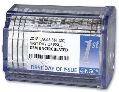 2018 American Silver Eagle NGC Gem Roll (First Day of Issue) 20-Coins