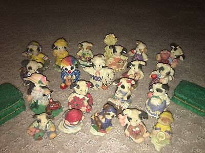 Mary's Moo Moo's  Lot Of 21 Halloween, Fall, Summer And More Mixed Lot Figurines