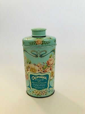 Vintage Avon California Perfume Co Talc Powder Advertising Tin