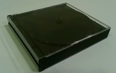 1 NEW Clear Cover Quad 4 Disc CD Jewel Case Replacement