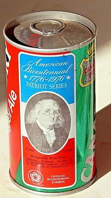 Canada Dry Ginger Ale; Maywood, IL; Steel Soda Pop Can - Benjamin Franklin