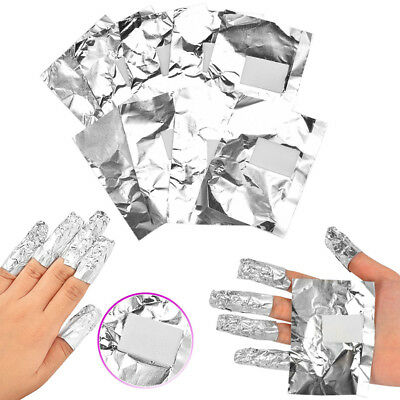 100X Nail Art Soak Off Gel Acrylic Shellac Removal Foil Wraps Makeup Tool AU GL7