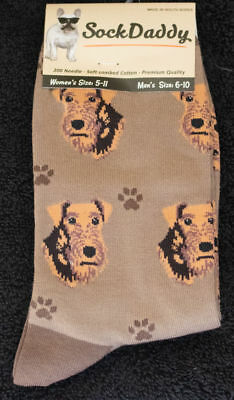 Airedale Terrier Dog Breed Lightweight Stretch Cotton Adult Socks