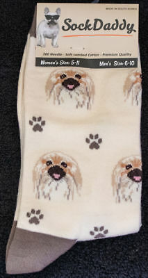 Pekingese Dog Breed Lightweight Stretch Cotton Adult Socks